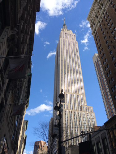The Empire State Building: New York's tallest skyscraper standing at 1,250 feet.